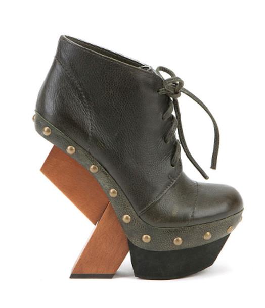 shoes wedges wood heels
