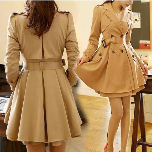 trench coat tan trench jacket lapel coat trench dress