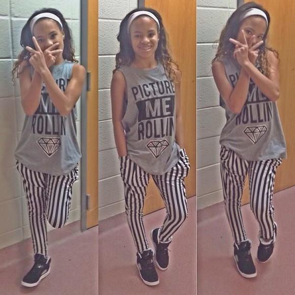 diamonds pajamas picture me rollin stripes black and white striped pants jordans bathroom