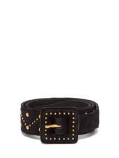 studded,belt,suede,black