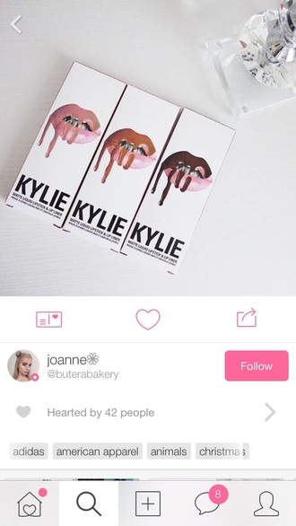 make-up where can i get this?  lipkitbykylie lipstick lip gloss matte lipstick matte