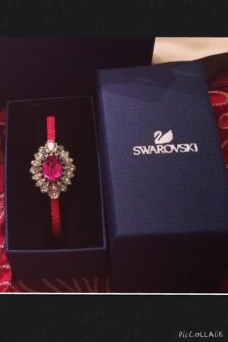 jewels swarovski burgundy velvet burgundy bracelets red velvet pink pink jewels