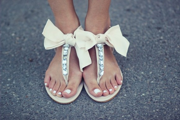 girly bow summer shoes sandals