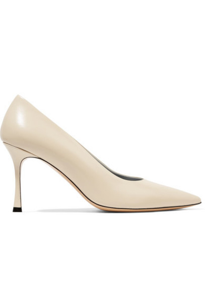 The Row - Champagne Leather Pumps - Cream