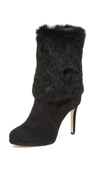 fur boots fur boots black shoes