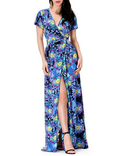 Brooklyn Flowy Print Wrap Dress