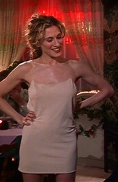 dress,carrie bradshaw,sex and the city,slip dress,nude slip dress