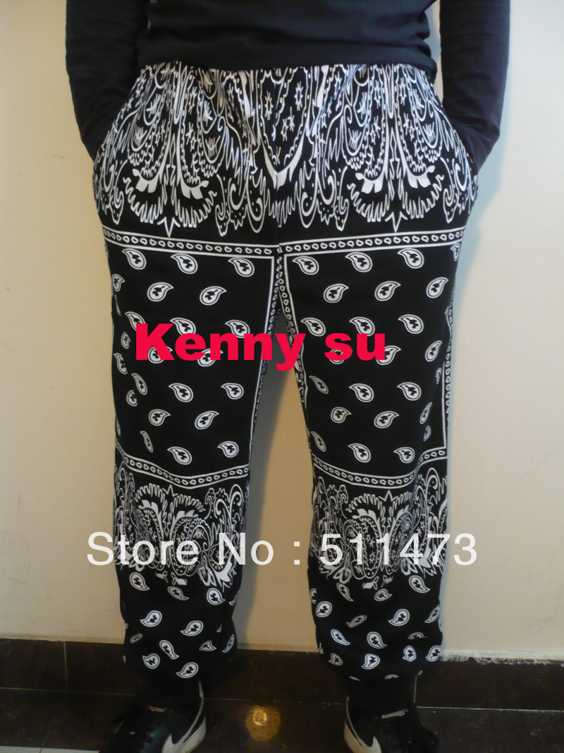 2014 new Bandana rhude mens harem jogger hiphop fashion ktz rap baggy cotton pants M TO 3XL free shipping-in Pants from Apparel & Accessories on Aliexpress.com