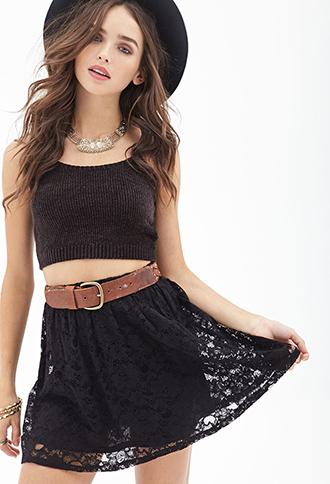 Floral Lace Skater Skirt | Forever 21 Canada