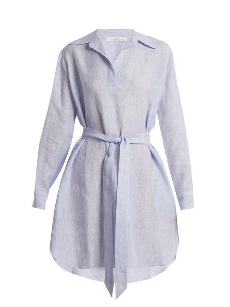 POUR LES FEMMES shirtdress blue dress