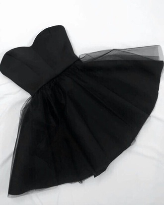 dress glamurous cute black dress prom dress prom black tulle dress short short dress sweethart neckline fluffy tutu dress cute dress classy classy dress special occasion special occasion dress