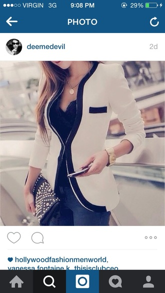 blouse white fancy classy fashion perfection jacket