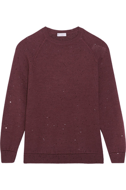 BRUNELLO CUCINELLI sweater embellished silk