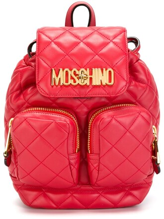 quilted backpack purple pink bag