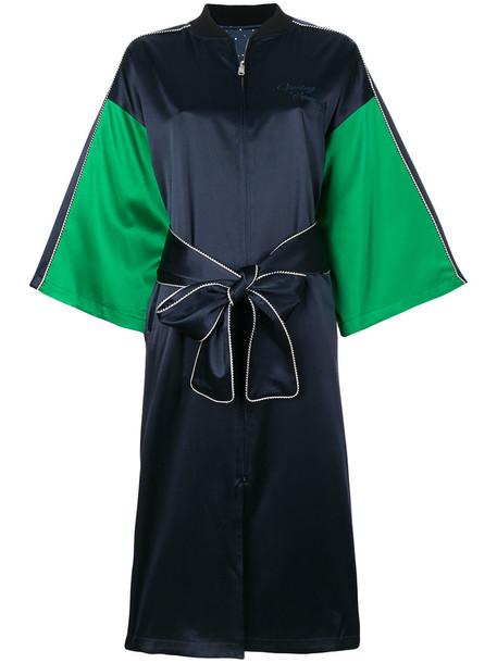 opening ceremony kimono women spandex blue silk top
