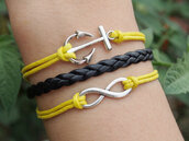 jewels,anchor,bracelets,anchor bracelet,infinity,infinity bracelet,jewelry,charm,cute,girl,women