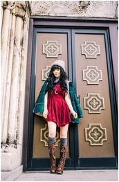jag lever,blogger,red dress,red velvet dress,velvet dress