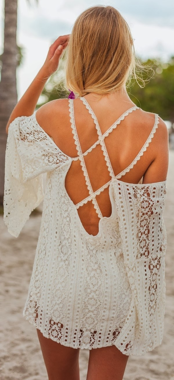 dress crochet mini dress lace dress open back dresses white dress boho dress boho boho summer dress spring outfits cream dress open back blouse lace summer top ivory vintage bohemian lace white lacedress hippie crochet top