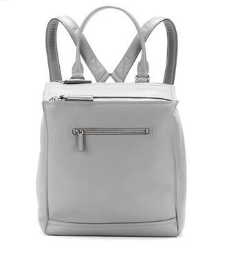 backpack leather backpack leather grey bag
