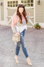 diary of a debutante,blogger,sweater,jeans,bag,shoes,jewels