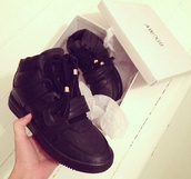 shoes,black trainers,black,suede,heels,high heels,shiney,high,similar,trendy,black shoes,high top sneakers