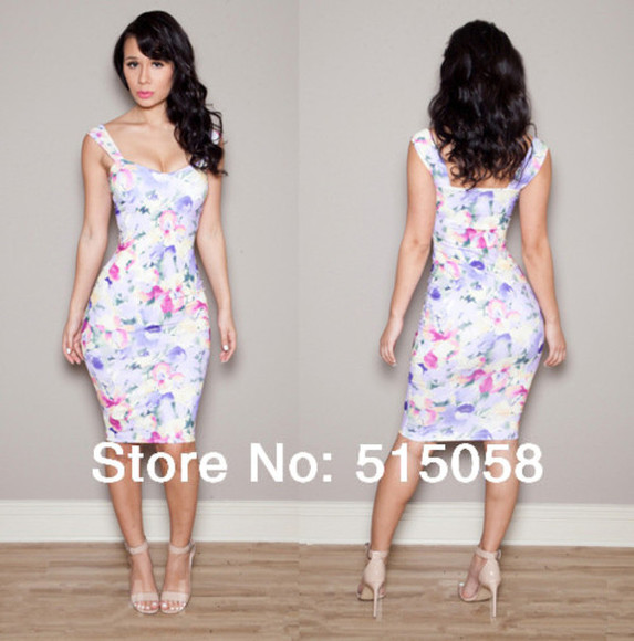dress cute dress bodycon summer dress party maxi dress fashion summer spring trends 2014 casual dress oriental print vintage floral