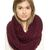 Maroon Chunky Hand Knitted Snood