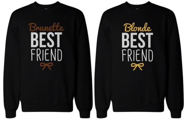sweater bff bff female friendship matching sweatshirts. Black Bedroom Furniture Sets. Home Design Ideas