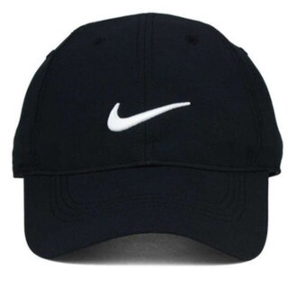 hat nike cap black black and white