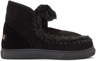 mini boots black shoes