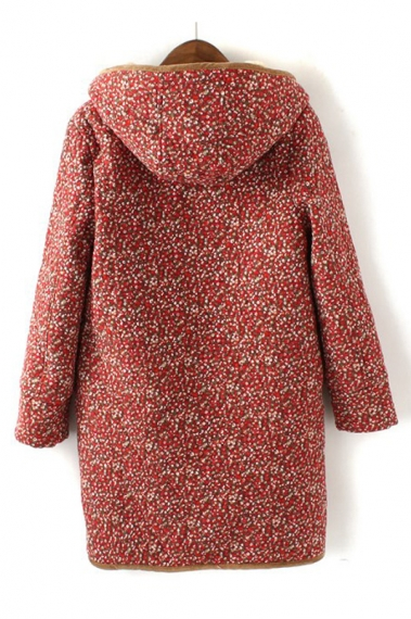 Vintage Floral Printing Coats Outerwear