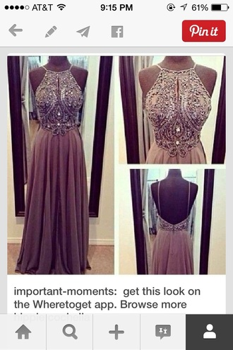 dress low back dress grey dress prom dress