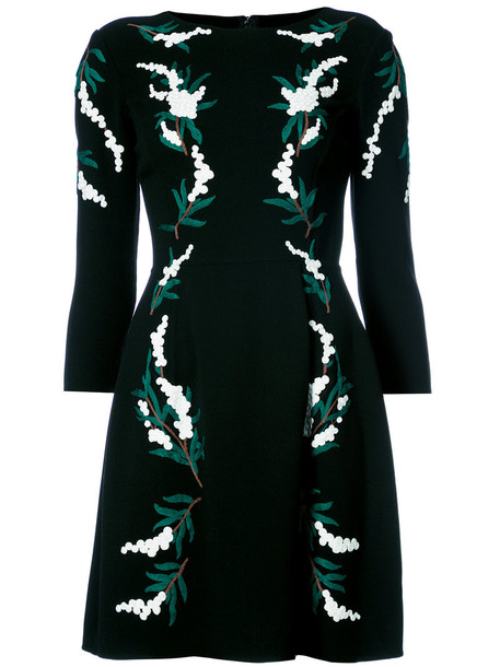 dress embroidered dress embroidered women spandex black wool