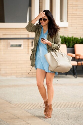 bag dress denim shirt dress jenna dewan