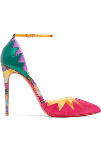 100 pumps leather suede shoes
