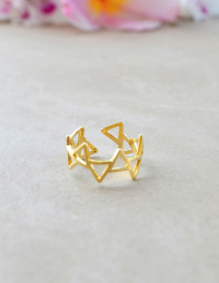 jewels geometric gold ring gold rings gold ring geometric ring