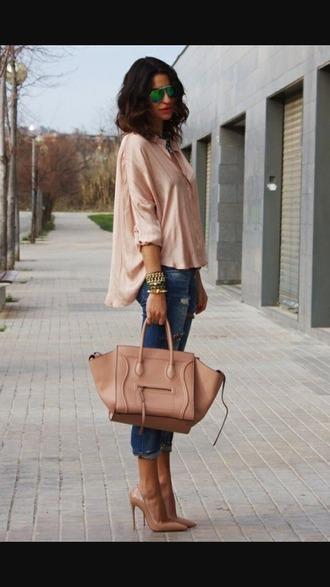 bag sac camel boots timberland style heels top bijoux jacket outfit