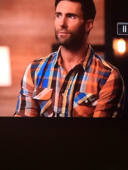 the voice adam levine flannel button up long sleeves