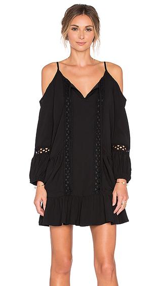 dress little black dres black dress open shoulder open shoulder dress long sleeves