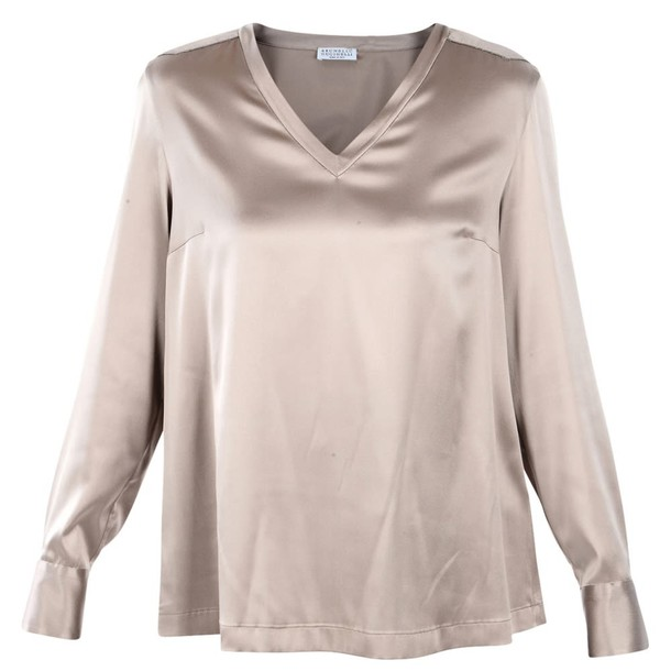 BRUNELLO CUCINELLI blouse pink dusty pink top