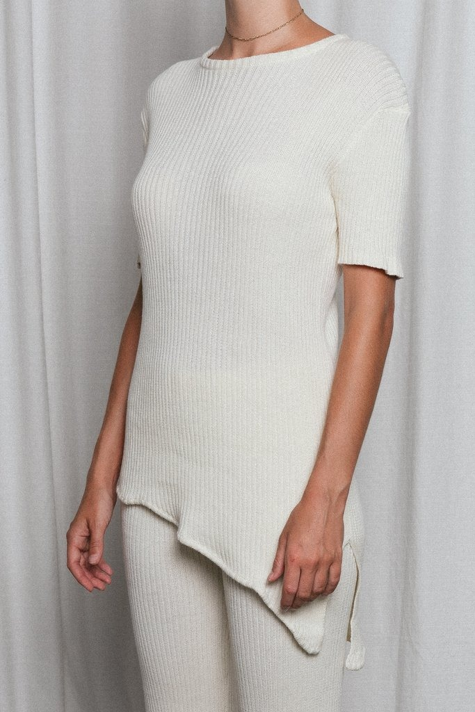 Pascale Knit Top Cream