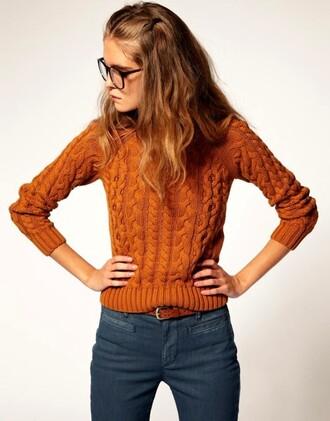 orange sweater knitwear sweater