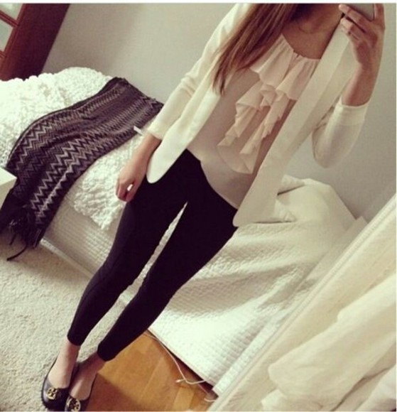 shirt shop cute blouse outfit girly pink where do i find the shirt? where do i find this outfit where do i find this blazer where do i find the jacket
