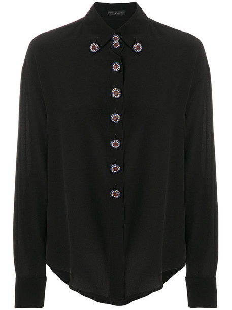 Etro - buttoned blouse - women - Silk - 48, Black, Silk