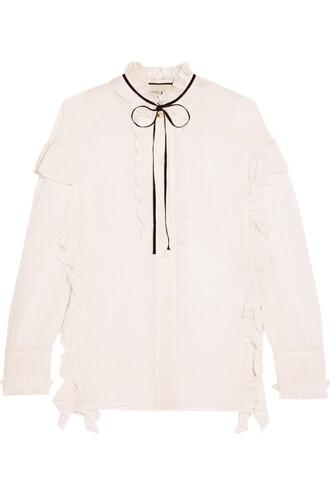 shirt cotton silk top
