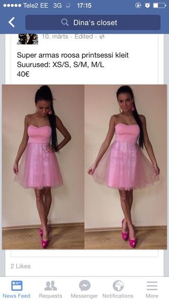 dress pink dress princess dress