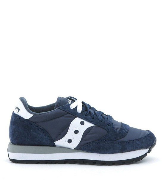 Saucony white blue suede shoes