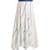 Striped cotton-blend midi skirt