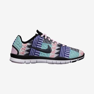 shoes black teal purple pink shoes nikes tribal print