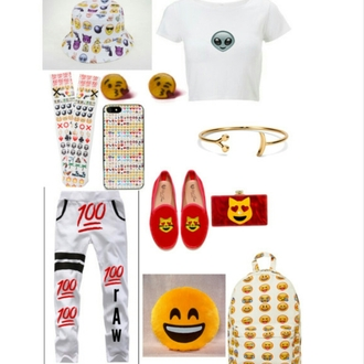 hat emoji socks eminem tshirt joggers emoji print iphone cover flats purse pants